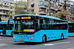 Bengbu Bus No.107 at 1St. Affiliated Hospital of Bengbu Medical College Station.jpg