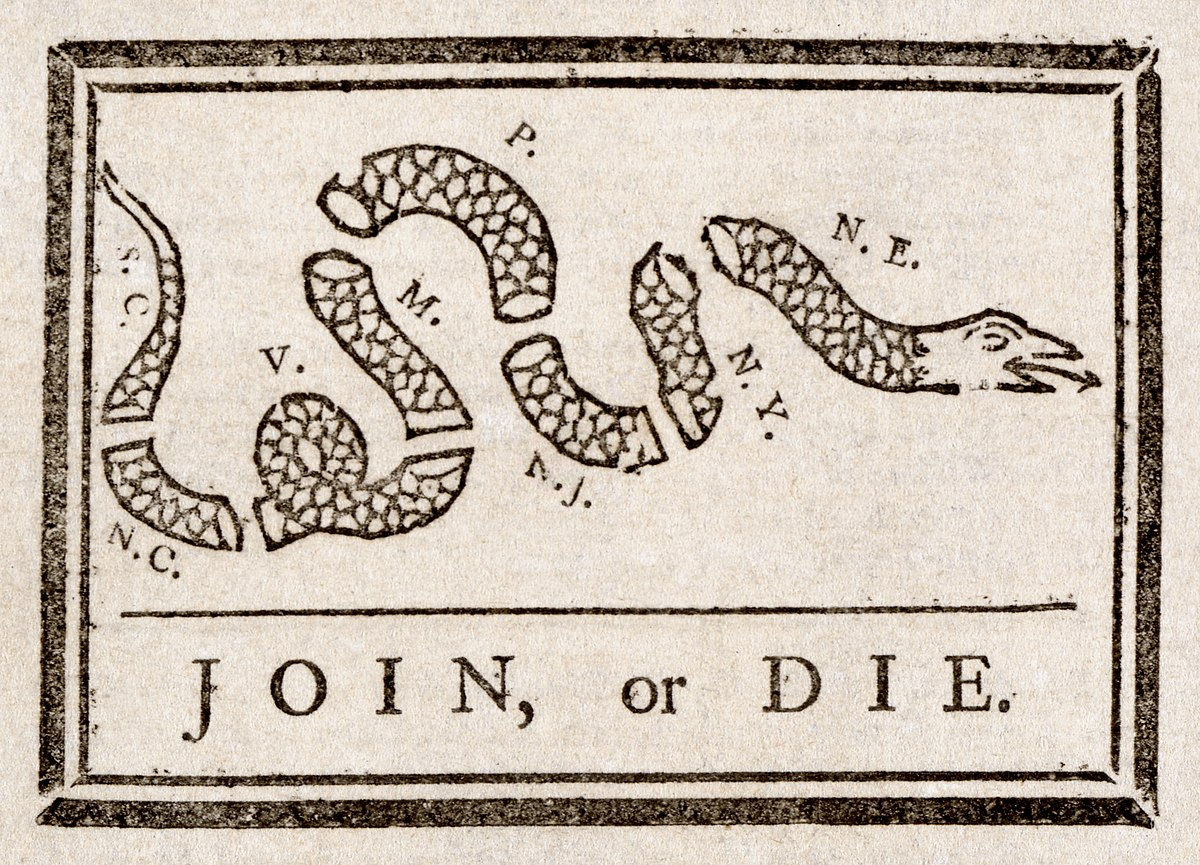 Join Or Die Wikipedia