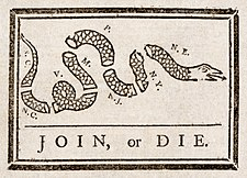 Join, or Die de Benjamin Franklin