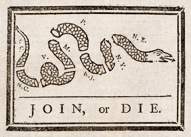 http://upload.wikimedia.org/wikipedia/commons/thumb/9/9c/Benjamin_Franklin_-_Join_or_Die.jpg/640px-Benjamin_Franklin_-_Join_or_Die.jpg