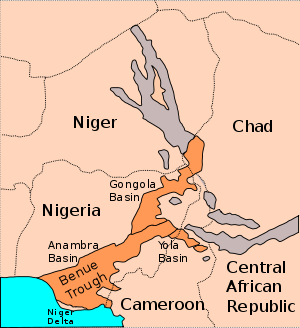 Sketch map of Benue Trough, Nigeria