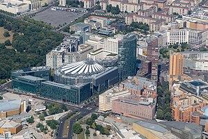 Potsdamer Platz - Aerial view of Potsdamer Platz in 2016.