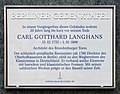 Berliner Gedenktafel Charlottenstr 48 (Mitte) Carl Gotthard Langhans.jpg
