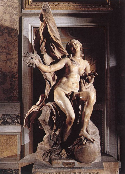 """Truth Unveiled by Time"" by Bernini"
