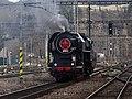 Beroun, Křivoklát expres (2014-12-13), posunující lokomotiva (03).jpg