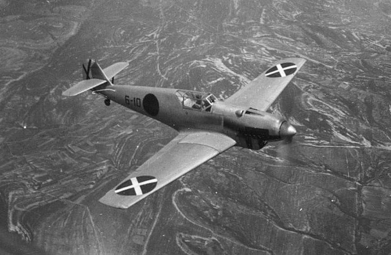 Bf 109 de la Legión Cóndor durante la Guerra Civil Española (1936-1939).