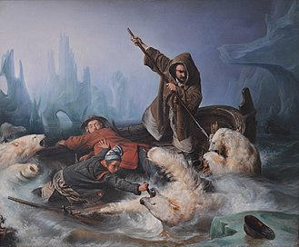 François-Auguste Biard - Image: Biard Fighting Polar Bears