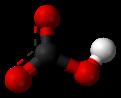 Pilko- kaj bastonmodelo de bikarbonato