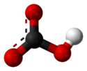 Ball-and-stick model of the bicarbonate anion