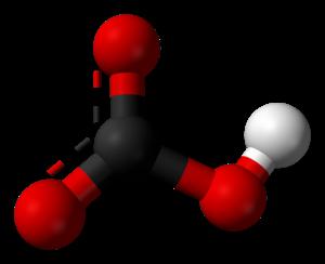 Ammonium bicarbonate - Image: Bicarbonate ion 3D balls