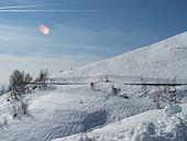 La strada d'inverno.