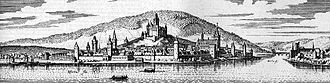 Bingen am Rhein - Bingen – excerpt from Topographia Hassiae from Matthäus Merian the Younger, 1655