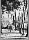 binnenplein naar het oosten naar tekening in het gemeente archief - middelburg - 20154486 - rce