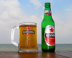 Bintang Beer - Bintang Beer bottle and mug