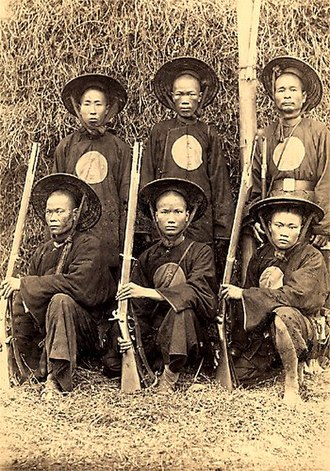 Tonkinese Rifles - Former Black Flag soldiers serving under French command, summer 1884