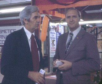 Len E. Blaylock - Blaylock (left) with retired Colonel and fellow Republican Gene McVay in 1972