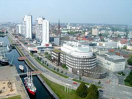 Udsigt over Bremerhaven