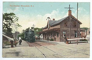 Bloomfield, New Jersey - Bloomfield Station in 1908