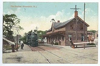 Bloomfield, New Jersey - Bloomfield Station in 1908