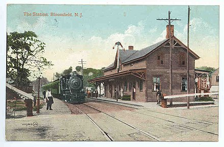Bloomfield Station in 1908