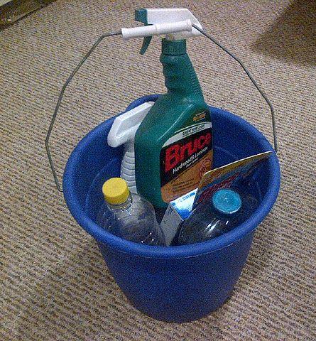 file:blue bucket with bruce hardwood floor cleaner - wikimedia