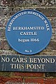 Blue plaque outside Berkhamsted Castle - geograph.org.uk - 1720012.jpg