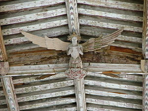 Holy Trinity Church, Blythburgh - Angel from the ceiling of Holy Trinity