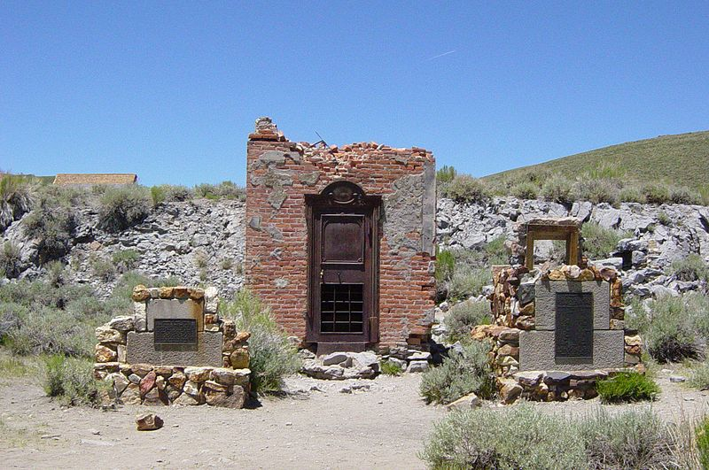 File:Bodie Bank ruins in Bodie, California.jpeg