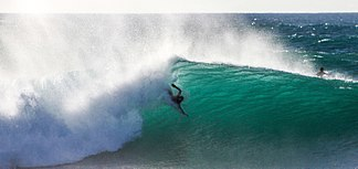 Travis Overley Bodysurfing At Banzai Pipeline Shot By Rachel Newton