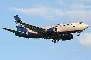 Aeroflot Flight 821 - The aircraft involved in the accident 3 months before the crash.