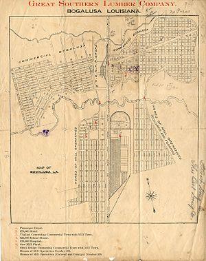 Bogalusa, Louisiana - 1911 Bogalusa maps