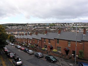 The Bogside, looking down from the entrance to...