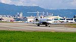 Bombardier BD-700-1A10 Global 5000 N717MK Departing from Taipei Songshan Airport 20151003b.jpg