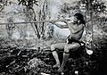 Borneo; a Kenya man demonstrating the blowpipe. Photograph Wellcome V0031236.jpg