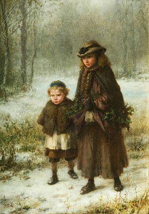 George Henry Boughton - Image: Boughton Winter Morning Walk