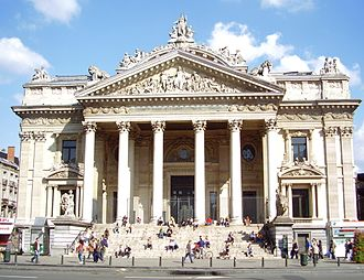Brussels Stock Exchange - Image: Bourse Bxl 02