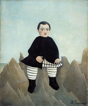 Boy on the Rocks - Henri Rousseau's Boy on the Rocks, painted 1895–7.