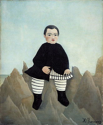 Boy on the Rocks - Henri Rousseau's Boy on the Rocks, painted 1895–7.