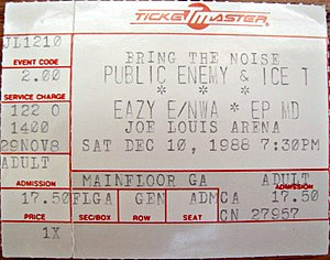"Eazy-E - Eazy-E co-headlined Public Enemy's 1988 ""Bring the Noise"" concert tour along with N.W.A"