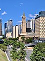 Brisbane City Hall and Pullman Brisbane King George Square seen from Wickham Park, 2020.jpg