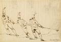 British Artillerymen Pulling a Gun WDL2959.png