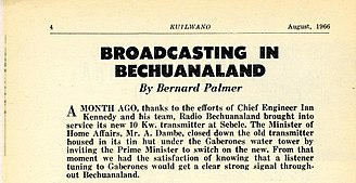 Bechuanaland Protectorate - Broadcasting in Bechuanaland