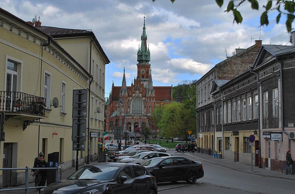 Brodzińskiego street, Podgórze, Krakow, Poland