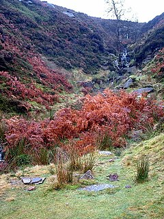 Brontë Waterfall Waterfall in Stanbury, West Yorkshire, England