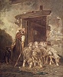 Brooklyn Museum - Leaving the Sheep Pen - Charles-Émile Jacque.jpg