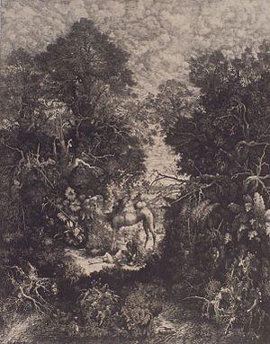 Rodolphe Bresdin - Le Bon Samaritain, 1861, by Rodolphe Bresdin