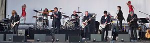 Bryan Ferry - Bryan Ferry onstage at Guilfest 2012, with backing from Johnny Marr and Chris Spedding