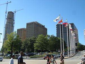 English: A portion of the Buckhead skyline in ...