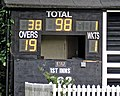 Buckhurst Hill Cricket Club scoreboard box, Essex, England.jpg