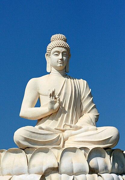 File:Buddha's statue near Belum Caves Andhra Pradesh India.jpg